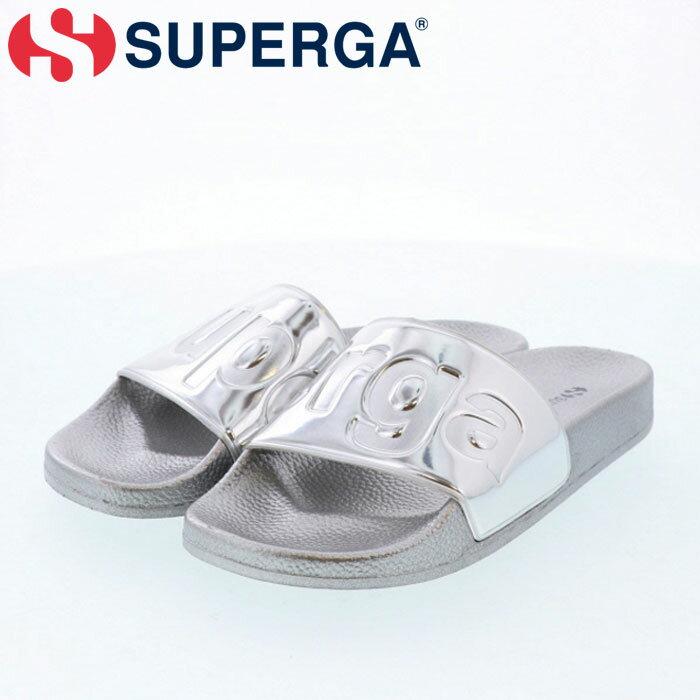 スペルガ サンダル シルバー SUPERGA シャワーサンダル シャワサン ロゴ 軽量 S00DUP0-031