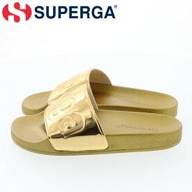スペルガ サンダル イエローゴールド シャワーサンダル シャワサン ビックロゴ SUPERGA S00DUP0-174