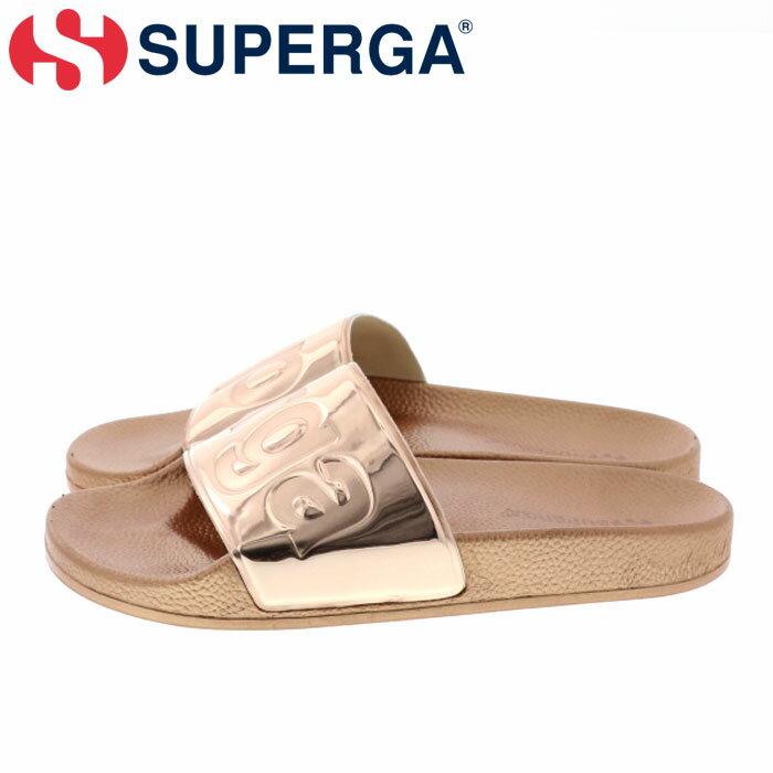 スペルガ シャワーサンダル ローズゴールド サンダル シャワサン ビックロゴ 軽量 SUPERGA S00DUP0-919