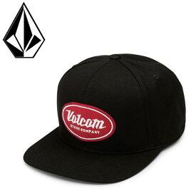 ボルコム キャップ VOLCOM 平つばCAP スナップバックキャップ 帽子 Cresticle Hat ブラック 黒