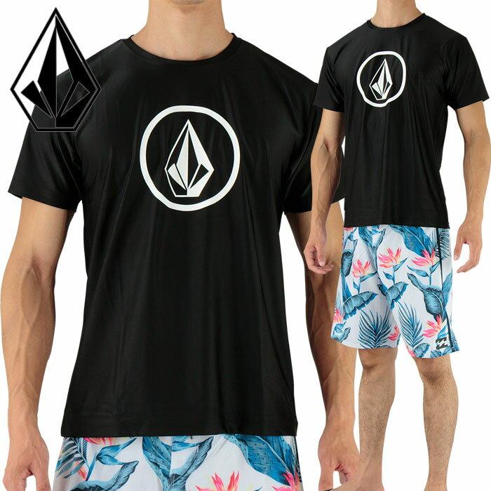 SALE ボルコム ラッシュTシャツ 半袖 ラッシュガード メンズ Tシャツ 黒 VOLCOM N01117JA