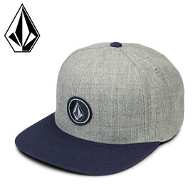 ボルコム キャップ 平つば メンズ レディース スナップバック 帽子 ツートーンカラー D5511561 グレー