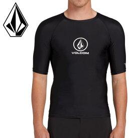 ボルコム ラッシュガード 半袖 ブラック 水着 ショートスリーブ N0111900