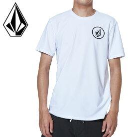 ボルコム メンズ サーフTシャツ 白 ラッシュガード N01119G0