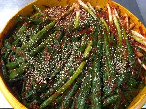 【今からおかん 自家製】本格手作り!(日本産ネギ)1kg【クール便】 韓国 食品 おかず お惣菜 おつまみ 安心できるキムチ、美味しいキムチ、人気のキムチ