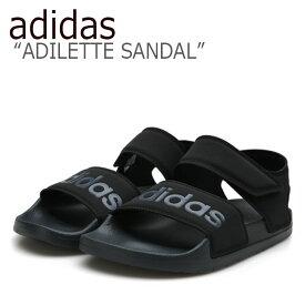アディダス サンダル adidas メンズ レディース ADILETTE SANDAL アディレッタ サンダル BLACK ブラック F35417 シューズ 【中古】未使用品