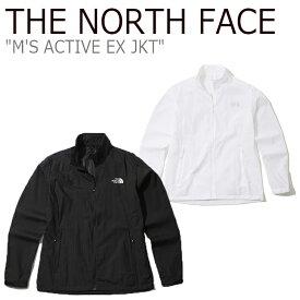 ノースフェイス ジャケット THE NORTH FACE メンズ M'S ACTIVE EX JKT アクティブ EX ジャケット BLACK WHITE ブラック ホワイト NJ3LK11A/C ウェア 【中古】未使用品