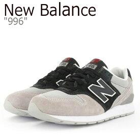 ニューバランス 996 スニーカー New Balance メンズ レディース 996 ニューバランス996 GREY BLACK グレー ブラック MRL996KM シューズ 【中古】未使用品