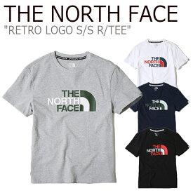 ノースフェイス Tシャツ THE NORTH FACE メンズ レディース RETRO LOGO S/S R/TEE レトロ ビッグロゴ ショートスリーブ ラウンドT 半袖 NT7UK22J/K/L/M ウェア 【中古】未使用品