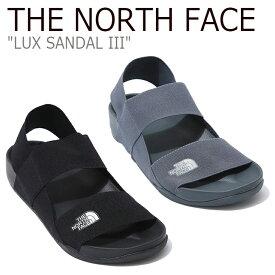 ノースフェイス サンダル THE NORTH FACE メンズ レディース LUX SANDAL III ラックス サンダル3 GRAY BLACK グレー ブラック NS98K01K/L シューズ 【中古】未使用品