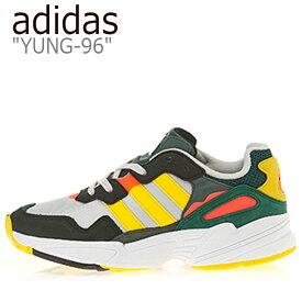 アディダス スニーカー adidas メンズ レディース YUNG-96 ヤング 96 GRAY グレー GOLD ゴールド RED レッド DB2605 シューズ 【中古】未使用品