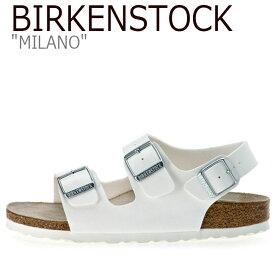 ビルケンシュトック サンダル BIRKENSTOCK メンズ レディース ミラノ MILANO WHITE ホワイト B034733 B034731 シューズ 【中古】未使用品