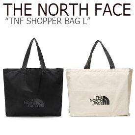 ノースフェイス トートバッグ THE NORTH FACE メンズ レディース TNF SHOPPER BAG L ショッパーバック L BLACK IVORY ブラック アイボリー NN2PL16A/B NN2PL63B バッグ 【中古】未使用品