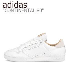 アディダス スニーカー adidas メンズ レディース CONTINENTAL 80 コンチネンタル80 WHITE BEIGE ホワイト ベージュ EF2101 シューズ 【中古】未使用品