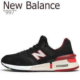 ニューバランス 997 スニーカー New Balance メンズ MS 997 RD BLACK ブラック RED レッド MS997RD シューズ 【中古】未使用品