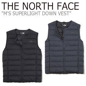 ノースフェイス ライトダウン THE NORTH FACE メンズ M'S SUPERLIGHT DOWN VEST スーパーライト ダウン ベスト BLACK ブラック CHARCOAL チャコール NV1DK52A/B ウェア 【中古】未使用品