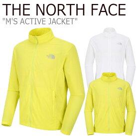 ノースフェイス ジャケット THE NORTH FACE メンズ M'S ACTIVE JACKET アクティブジャケット LIME ライム WHITE ホワイト NJ3LJ01B/C ウェア 【中古】未使用品