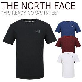 ノースフェイス Tシャツ THE NORTH FACE メンズ M'S READY GO S/S R/TEE メンズ レディーゴー ショートスリーブ ラウンドTシャツ 半袖 BLACK ブラック NAVY ネイビー RED レッド WHITE ホワイト NT7UJ05A/B/C/D ウェア 【中古】未使用品