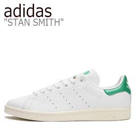 アディダス スタンスミス スニーカー adidas メンズ レディース STAN SMITH スタン スミス WHITE ホワイト GREEN グリーン EH1735 シューズ 【中古】未使用品