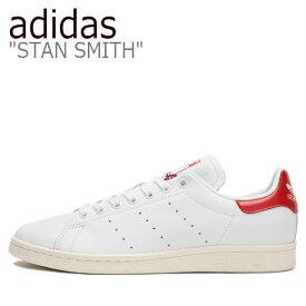 アディダス スタンスミス スニーカー adidas メンズ レディース STAN SMITH スタン スミス WHITE ホワイト RED レッド EH1736 シューズ 【中古】未使用品