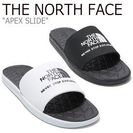 ノースフェイス スリッパ THE NORTH FACE メンズ レディース APEX SLIDE エイペックス スライド BLACK ブラック WHITE ホワイト NS98L09J/K シューズ
