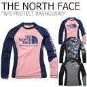 ノースフェイス 水着 THE NORTH FACE レディース W'S PROTECT RASHGUARD プロテクト ラッシュガード SCALET スカーレ…