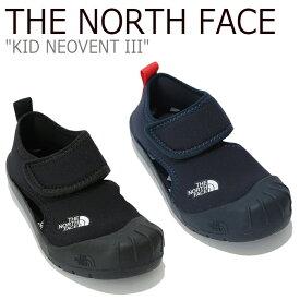 ノースフェイス スニーカー THE NORTH FACE キッズ KID NEO VENT III ネオベント3 NAVY ネイビー BLACK ブラック NS96K06A/B シューズ 【中古】未使用品