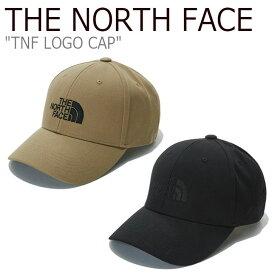 ノースフェイス キャップ THE NORTH FACE メンズ レディース TNF LOGO CAP ロゴキャップ BLACK ブラック DARK BEIGE ダーク ベージュ NE3CL50A/B ACC 【中古】未使用品