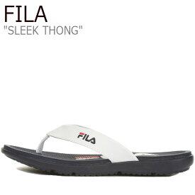 フィラ サンダル FILA メンズ レディース SLEEK THONG スリーク ソング WHITE ホワイト BLUE ブルー 1SM00739-147 シューズ