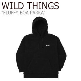 ワイルド シングス パーカ WILD THINGS メンズ レディース FLUFFY BOA PARKA フラッフィー ボア パーカー BLACK ブラック WTA192XOT15 ウェア
