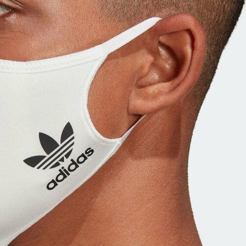 adidasFACECOVERSM/L3-PACKフェイスカバー3枚組(M/L)WHITE/BLACK