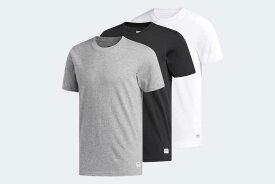 adidas Originals 3 PACK TEESアディダス スリーパック TシャツCORE HEATHER/WHITE/BLACK