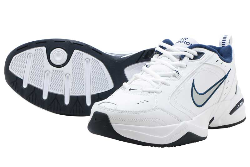 NIKE AIR MONARCH IVナイキ エア モナーク 4WHITE/METALIC SILVER