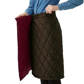 防寒 寒さ対策 ひざ掛け 中綿キルトリバーシブル巻きスカート(送料無料)電気を使わない 寒さ 対策 グッズ 部屋(セルヴァン)