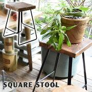 スツールアンティーク北欧おしゃれイス椅子いす背もたれなし木製天然木スチール脚アイアン角型木製スツールロースツール腰かけチェアリビングキッチン玄関ヴィンテージTTF-903C