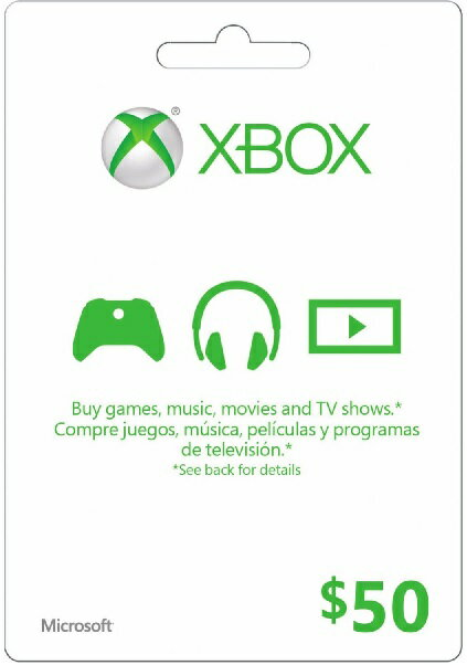 XBOX GIFT CARD $50(エックスボックス ギフトカード $50 北米版)〈Microsoft〉
