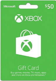 Xbox GIFT CARD $50 北米版