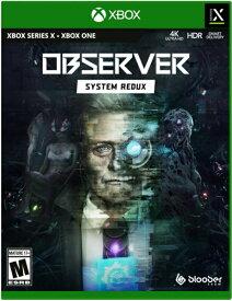 XboxSeriesX/XboxONE Observer: System Redux 北米版[新品]