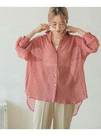 【SALE/43%OFF】ヨウリュウシアービッグシャツ ITEMS アーバンリサーチアイテムズ シャツ/ブラウス シャツ/ブラウスその他 ピンク ホワイト グレー ブルー パープル【RBA_E】[Rakuten Fashion]