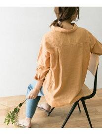 [Rakuten Fashion]高機能リネンスキッパーシャツ URBAN RESEARCH アーバンリサーチ シャツ/ブラウス シャツ/ブラウスその他 オレンジ ホワイト ブラウン【送料無料】