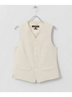 Cotton Linen Matt Vest UF84-13B005: Natural