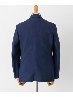 Cotton Linen Matt Jacket UF84-17B008: Indigo