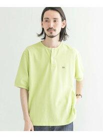 Scye Garment Dyed Henley Neck Shirts URBAN RESEARCH アーバンリサーチ カットソー Tシャツ グリーン ブラウン【送料無料】[Rakuten Fashion]