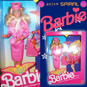 SPIRAL 1989年 Fright time Barbie フライトタイム バービー 人形 フィギュア スチュワーデス ドレス セット ピンクボックス スパイラル フィギュア バービー ぬいぐるみ ドレス アメリカン おもちゃ
