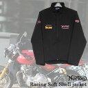 【ajito】Norton ノートン Norton Racing Soft Shell jacket レーシング ソフトジャケット アウター ブラック 半袖 プリント メンズ 正…