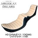 【ajito】American Dreams アメリカンドリームス Wカスタムシート タックロール 角Wスタッド ハイバック30cm HD ハーレーダビットソン …