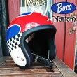 ajitoBUCO×NortonブコノートンジェットヘルメットコラボレーションモデルSM(56〜58cm)バイクバイカーモーターサイクルヴィンテージビンテージスモールジェットトイズマッコイ