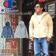 BUDDYChampionチャンピオンボアフリースフードパーカーアウターバディ原宿ジップアメカジアメリカンベージュグレーネイビーブルーカジュアルメンズファッションジャケットコート