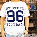 BUDDY × Champion WESTERN FOOTBALL 86 Tシャツ T1011 MADE IN U.S.A. 別注 アメリカ製 チャンピオン バディ アメカジ WHITE ホワイト…
