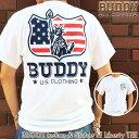 BUDDY Indian & Statue of Liberty Tシャツ バディ オリジナル インディアン 自由の女神 ニューヨーク GILDAN アメカジ WHITE ホワイト…